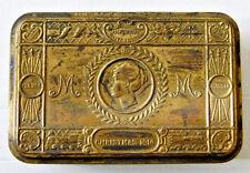 Genuine WW1 Princess Mary 1914 Christmas Gift Brass Tin Tobacco Box - Empty