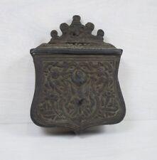 Antique Brass Ottoman Empire Palaska Gun Powder Cartridge Box Military Container
