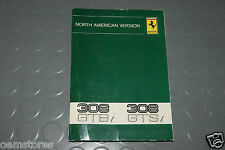 1980 Ferrari 308 GTBi GTSi Owners Manual - Book cat. 186/80 n. 2500