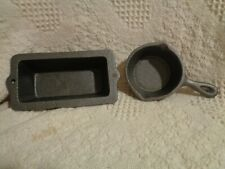 Black Cast Iron Mini Small Loaf Bread Pan and Iron SkilletHeavy Duty
