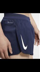 Mens Nike Aeroswift Running Short Blue Size Large AQ5257-410