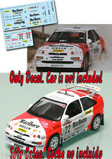Decal 1:43 Luis Monzon - FORD ESCORT COSWORTH - Rally Sanremo 1994