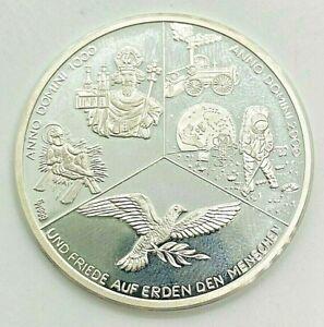 """Medaille Anno Domini 1000 """"und friede auf Erden den Menschen"""" 999er Silber"""