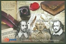 CURACAO 2014 450th BIRTH OF WILLIAM SHAKESPEARE SOUVENIR SHEET   MINT NH