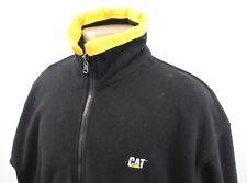 CAT Full Zip Fleece Jacket CATERPILLAR Men's Medium L Black Yellow Construction