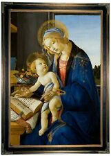 Botticelli Virgin and Child Madonna of the Book Framed Canvas Print Repro 19x28