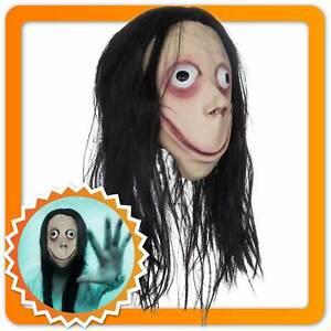 Momo Maske Hexenmaske aus Latex Hexe Grusel Kind Geist Ringu Halloween Vollmaske