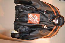 Chase Authentics Tony Stewart Black Leather Jacket Size XL