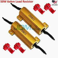 JDM ASTAR 50W 6ohm Load Resistors Hyper Flash Turn Signal Blink Blinker LED Bulb