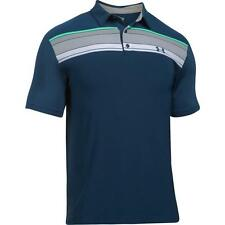 Under Armour Mens 2017 UA Golf Spieth Playoff Polo Shirt Black White Red Green