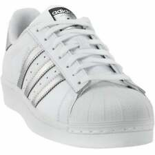 Zapatillas Adidas Superstar Con Cordones Para Mujer Zapatos Informales-Blanco