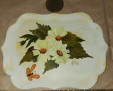 Hand painted doll house miniature serving tray by Lulis