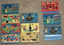 7 VINTAGE 1955 OHIO BLUE TIP MATCHES BOXES, ALL EMPTY, PLUS 3 EXTRA SLEEVES