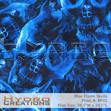 HYDROGRAPHIC FILM FOR HYDRO DIPPING WATER TRANSFER FILM BLUE FLAME SKULLS