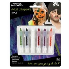 Halloween Party Face Paint 6 Pack Crayons & Holder Fancy Dress Costume Accessory