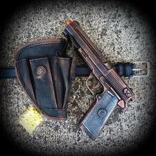Steampunk Gun+Holster+Belt AIRSOFT SPRING BB GUN Pellet man TOY walking Zombie