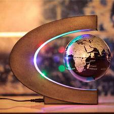 C shape LED World Map Decoration Magnetic Levitation Floating Globe Black