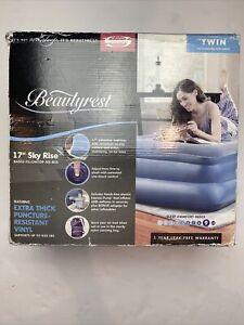 Twin Size Air Mattress Beautyrest Silver Extraordinaire with Internal Pump
