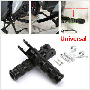 CNC Motorcycle Bikes Rear Footpegs Pedal Rests Black Universal Modified Aluminum