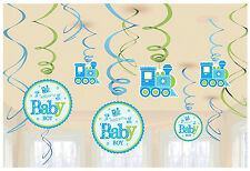 Boy Welcome Little One Baby Boy Value Pack Foil Swirl Decorations Party Supplies