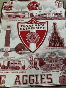 Texas A&M Aggies Hanging Wall Tapestry Riddle & Cockrell  27 × 35