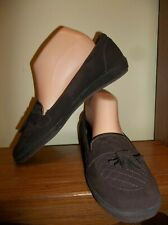 GRASSHOPPERS BROWN SUEDE LEATHER LOAFERS SIZE 11  CAREER NEW