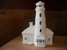 C-0726 Brick and Stone Lighthouse Ceramic Bisque Ready to Paint