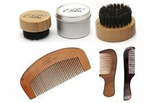 Beard  Hair Brush Round   with 3 free Moustache  combs( tin Box)