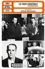 FICHE CINEMA : LE FAUX COUPABLE - Fonda,Miles,Hitchcock 1957 The Wrong Man