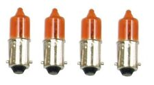 MOTORCYCLE MINI INDICATOR BULBS 12V 23W AMBER Set of 4  BA9S Base  T10MM BLB07