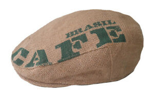 Men's Hat Cap Flatcap Sack Fabric/Jute Print Cafe Brazil Sport Mens