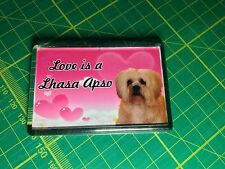 "Lhasa Apso Fridge Magnet ""I Love My Lhasa Apso"""