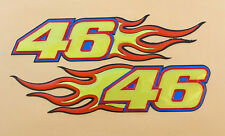 Pair Reflective Universal Resin Sticker motorsport 46 On Fire H: 2.4cm W: 10.5cm