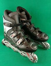 No Fear Inline Skates Roller Blades Boots Wheels Black Silver UK Size 6 EUR 37
