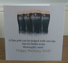 Personalised Handmade Humorous Guinness Birthday Card Son Dad Grandad Brother