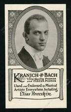1919 Elias Breeskin photo Kranich & Bach piano vintage print ad