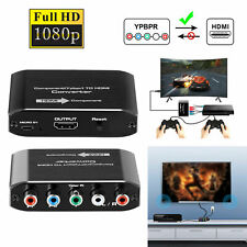 Component RGB RCA VGA to HDMI AV Converter Adapter Box for VHS DVD PS2 Xbox Wii