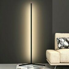 Contemporary Modern 5ft Led Corner Floor Lamp - Aluminum - Warm White w/ Dimmer