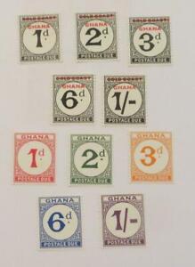 Ghana 1958 and 1965 QE sets postage due UMM