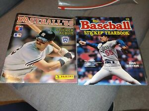 TWO USED  BASEBALL STICKER ALBUMS-1 TOPPS & 1 PANINI-1989 & 1988