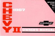 1967 CHEVROLET CHEVY II / NOVA AND SS FACTORY CORRECT OWNERS OPERATORS MANUAL