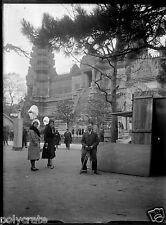 Portrait Expo Coloniale Internationale  - négatif photo verre plaque an. 1931