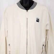 Puma Classics+ T7 Mens Woven Bomber Jacket Track 573328 24 Birch Ivory Large NEW