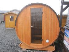 ABHOLUNG SOFORT MÖGLICH Terrassensauna Ø ca. 204 cm Sauna Saunafass ohne Ofen