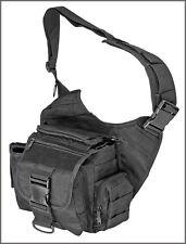 EXTREME TACTICAL MESSENGER BAG - BLACK 1000 DENIER FABRIC MATERIAL