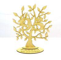 Jubiläums Baum zum 95 Geburtstag Personalisiert aus Holz, 28 cm, Geschenk