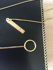 Fine 18ct gold GUCCI Lariat necklace
