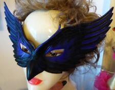 Eagle Black/Purple Women Man Mask Adult Size Costume Elastic Back Halloween NIP