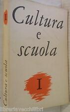 CULTURA E SCUOLA 1 1961 Tasso Decadentismo Lirica eolica Papiri ercolanesi di e