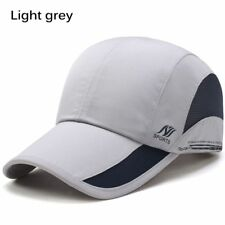 Men Women Outdoor Sport Baseball Mesh Hat Running Sun Visor Quick-drying Cap Light Grey